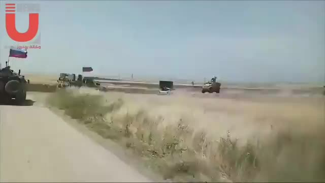 Xe tuần của Nga đụng độ chiến sa của Mỹ trên đất Syria